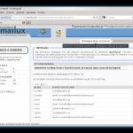 Panel postmastera - lista aliasów w domenie